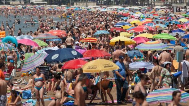 turistas de sol y playa