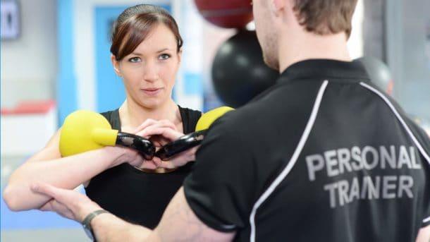 entrenando con un entrenador